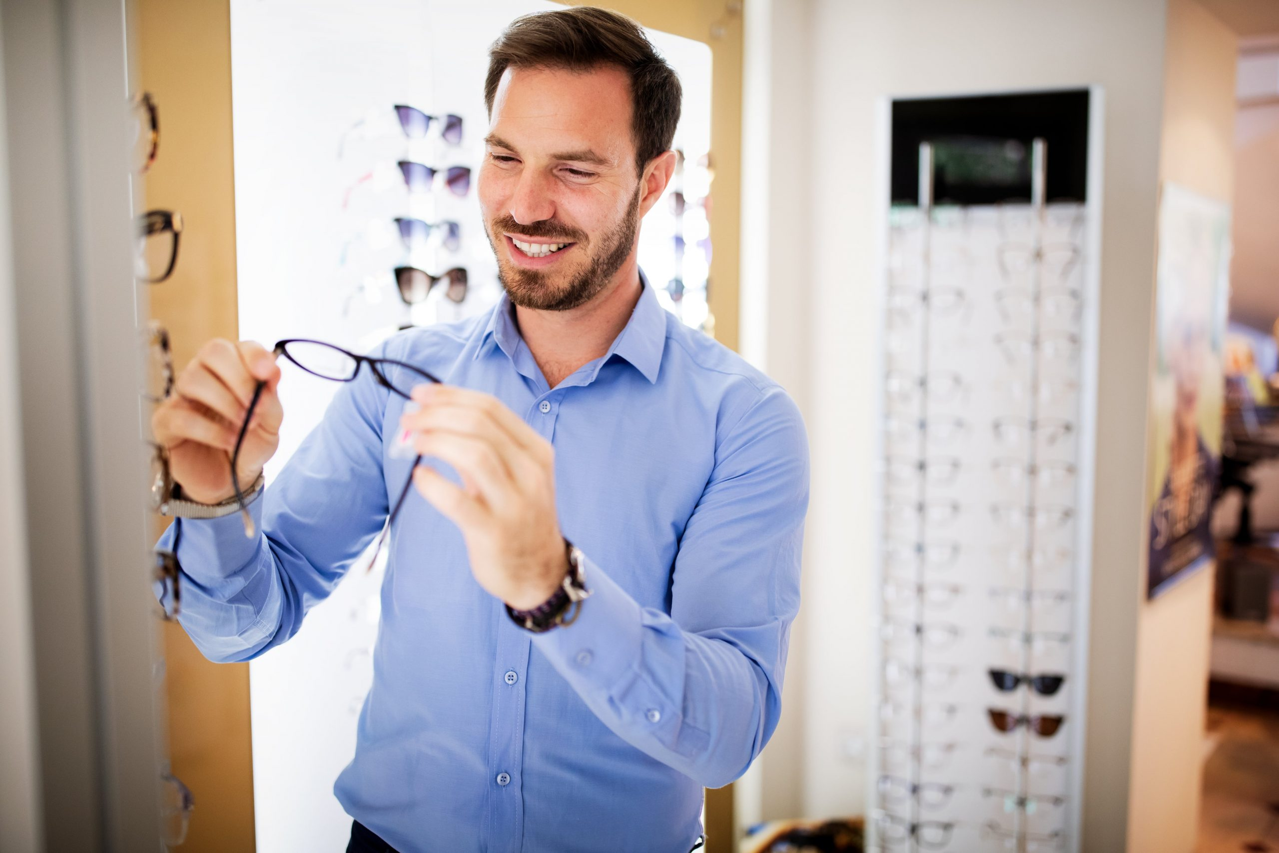 Health Care Eyesight And Vision Concept Happy Man Nsw47fq Min