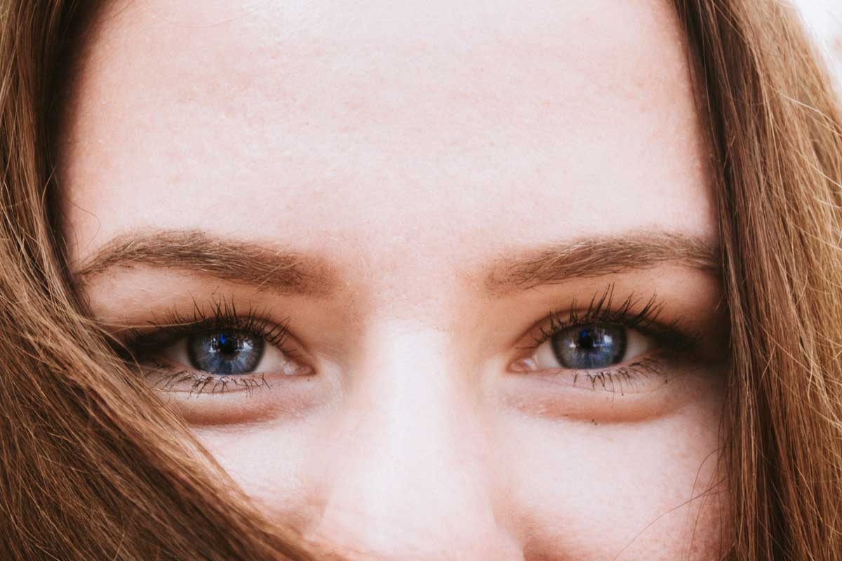 Closeup Of Womans Eyes